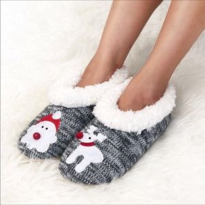 Shoes - Grey Christmas Slippers. Various sizes. NWT